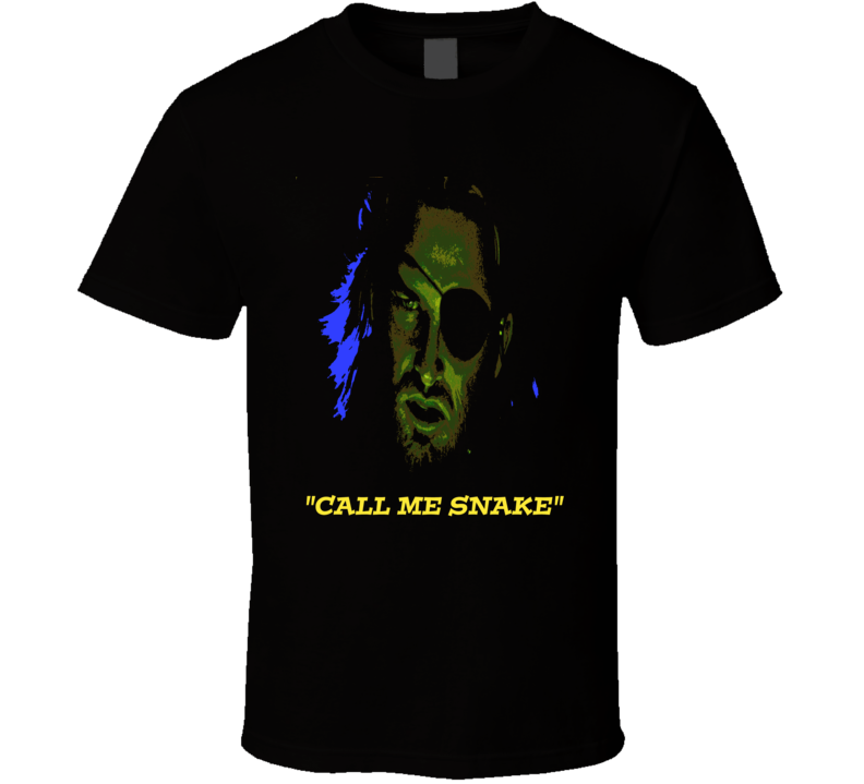 4c3b019438 Snake Plissken t-shirt Escape From New York Kurt Russell Call me Snake  retro cult movie classic t-shirts