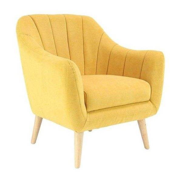 Yellow Armchair Liked On Polyvore Featuring Home Furniture