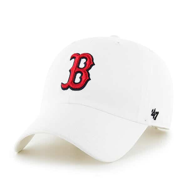 Boston Red Sox 47 Brand White Clean Up Adjustable Hat in 2019