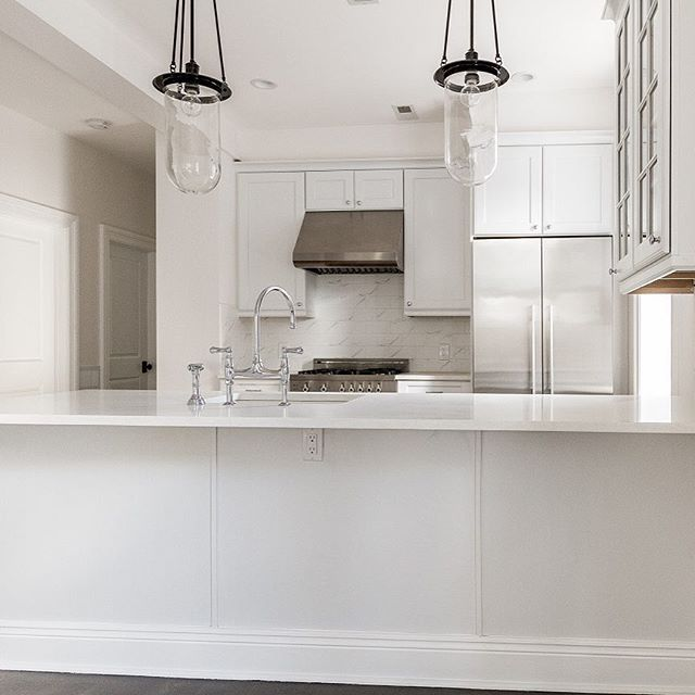 All white and stainless steel @homesbydixon