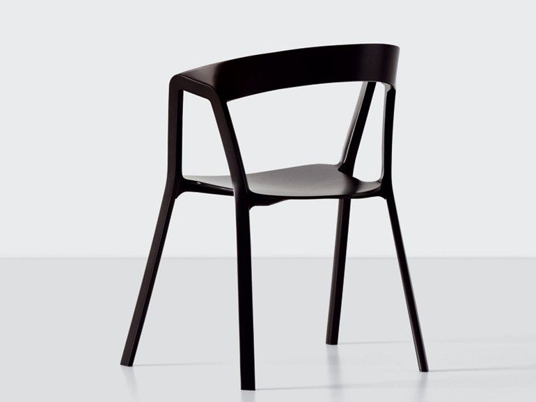 Stackable Polypropylene Chair COMPAS By Kristalia | Design Patrick Norguet