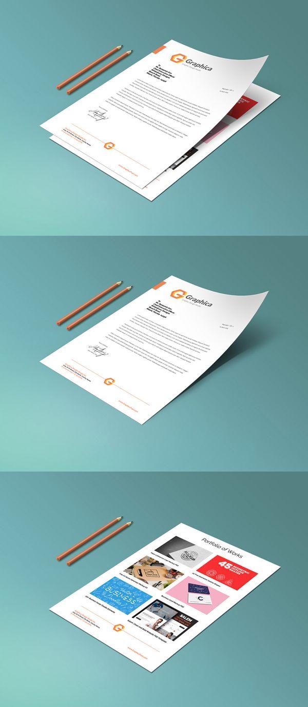 Free Letterhead And Paper Portfolio Mockup Psd  Mockup Templates