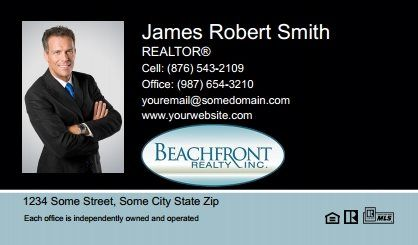 Beachfront Realty Business Cards Bri Bc 020 With Photo