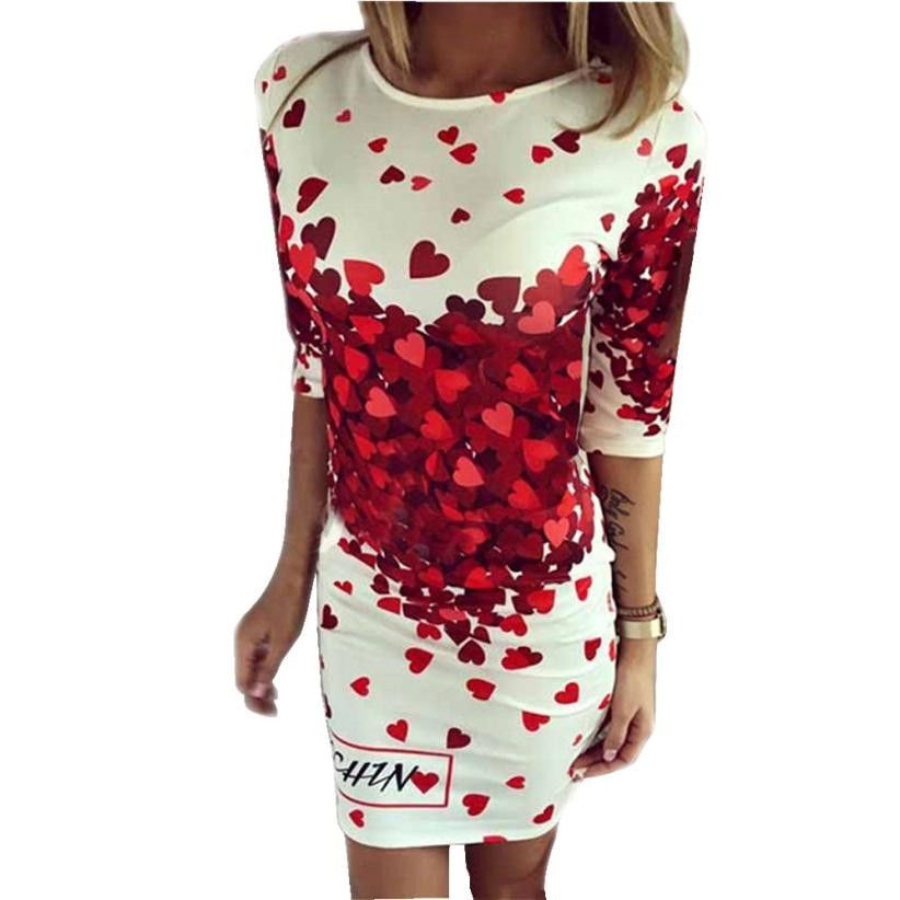 Dress Quarter Sleeve Date mini 160316