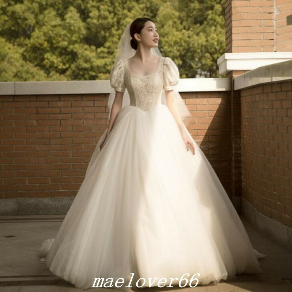 Ebay Ad Vintage Puffy Sleeve Ball Gown Princess Wedding Dress Bride Gowns Plus Si Puffy Wedding Dresses Online Wedding Dress Backless Mermaid Wedding Dresses [ 1000 x 998 Pixel ]