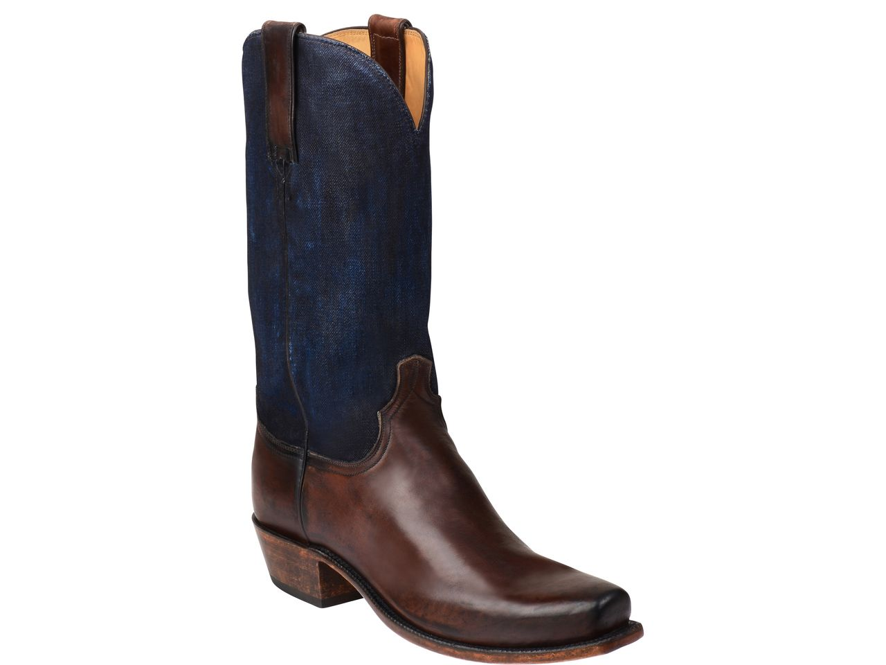 d8c2fc1c27f Shop New Lucchese GY1527.73 Colby Mens Denim and Oil Calf Leather ...