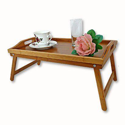 Frühstückstablett bambus frühstückstablett bett tablett serviertisch holz relaxdays