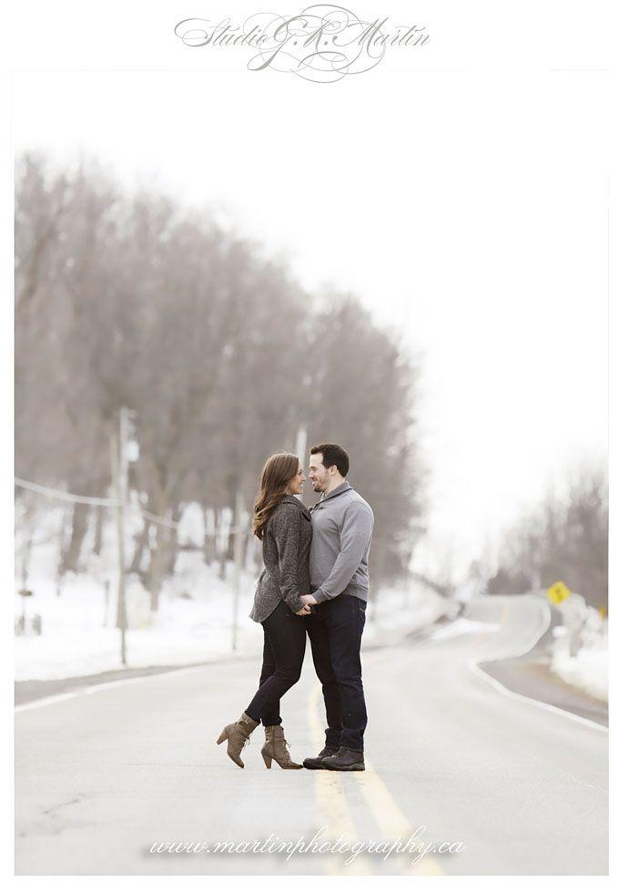 Winter engagement photos Ottawa Ontario Canada Wedding photographers Studio G.R. Martin