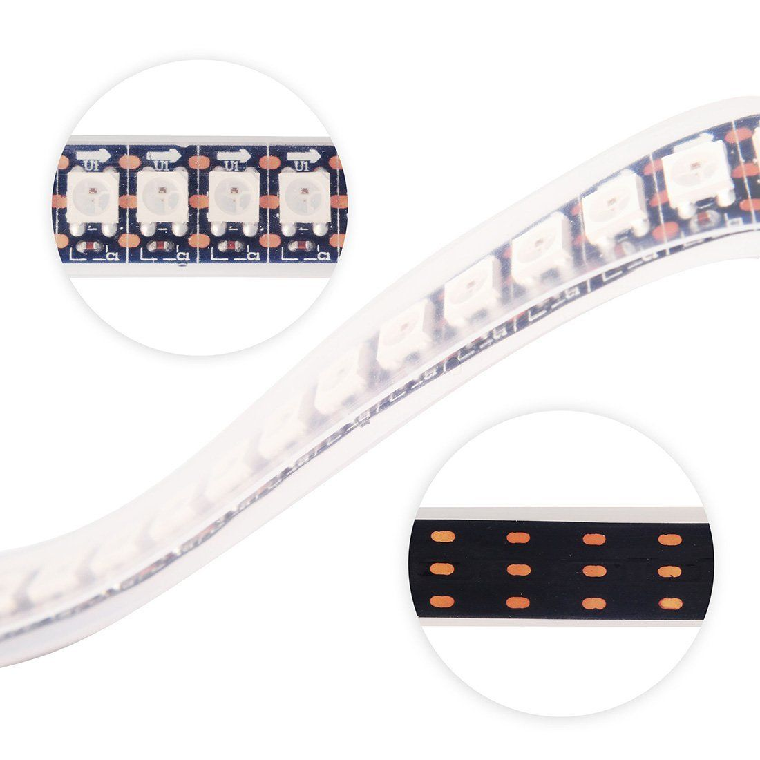 individually addressable 1m ws2812 ws2812b 144 pixel/m digital ...