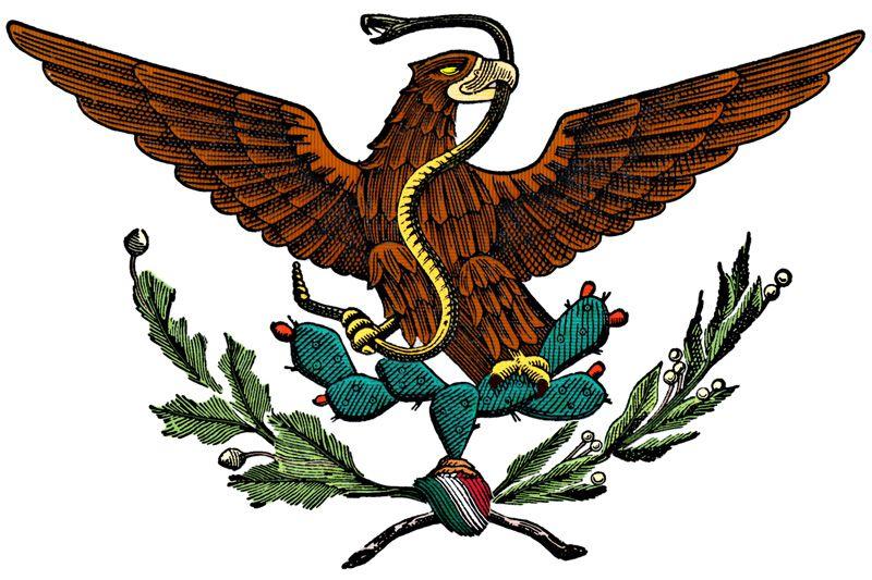 Nueva Republica Nueva Bandera Escudo De Mexico Obras De Arte Mexicano Escudo Mexicano