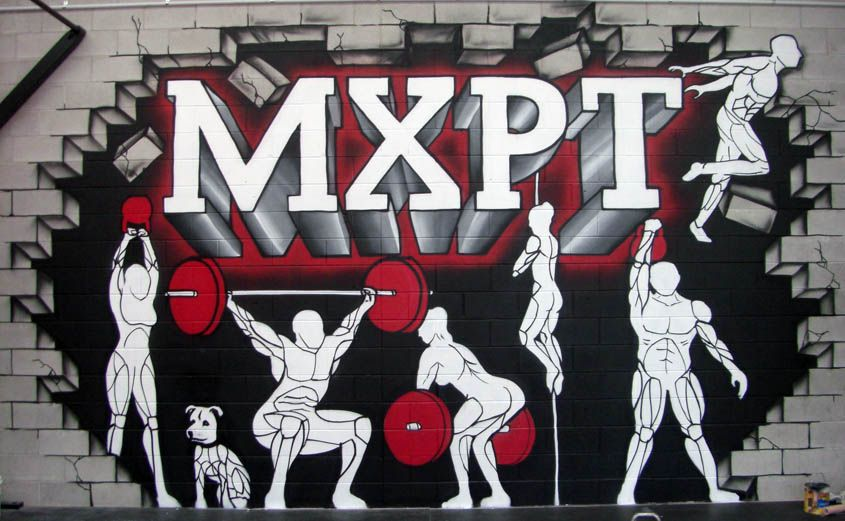 Auckland gym feature wall mural DIY Gym Stuff Pinterest Wall