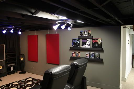 Basement Ceiling Ideas Black