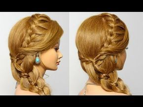 How to make side braid hairstyles prom hair youtube also braids rh pinterest