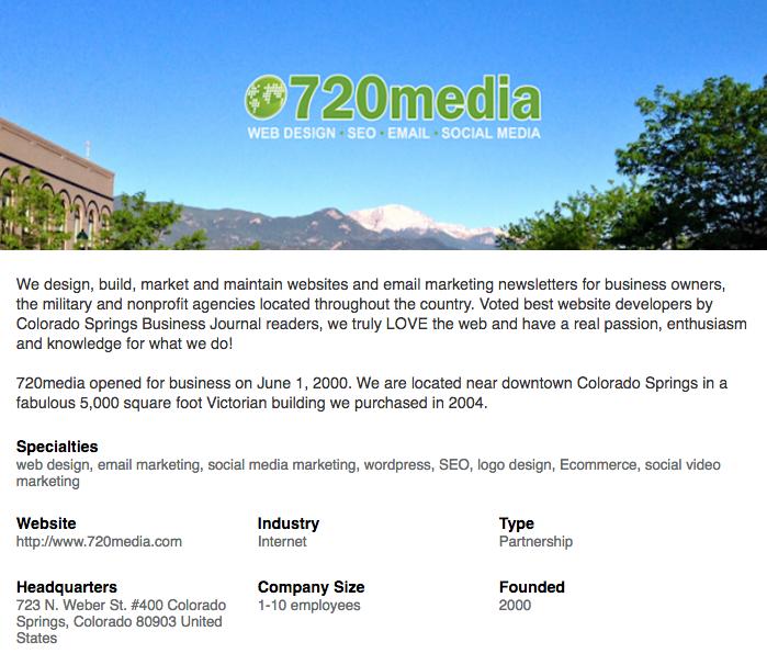 720media Colorado Springs Website Design Social Media Video Seo Social Media Social Media Video Colorado Springs
