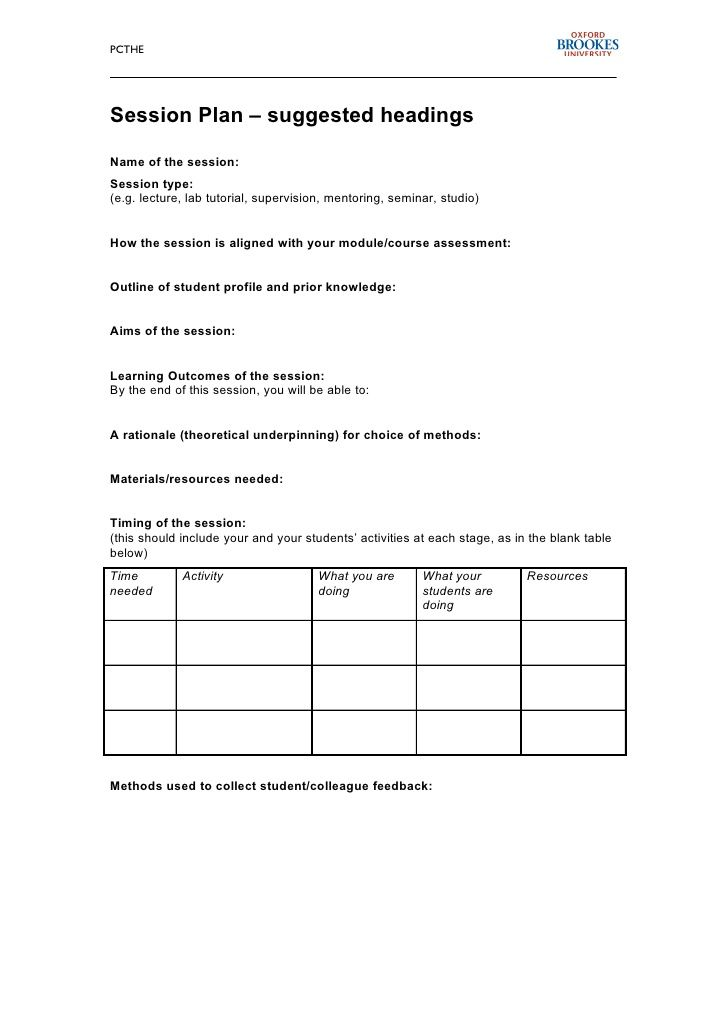 soccer training session plan template - http\/\/sportsoccers - seminar planning template