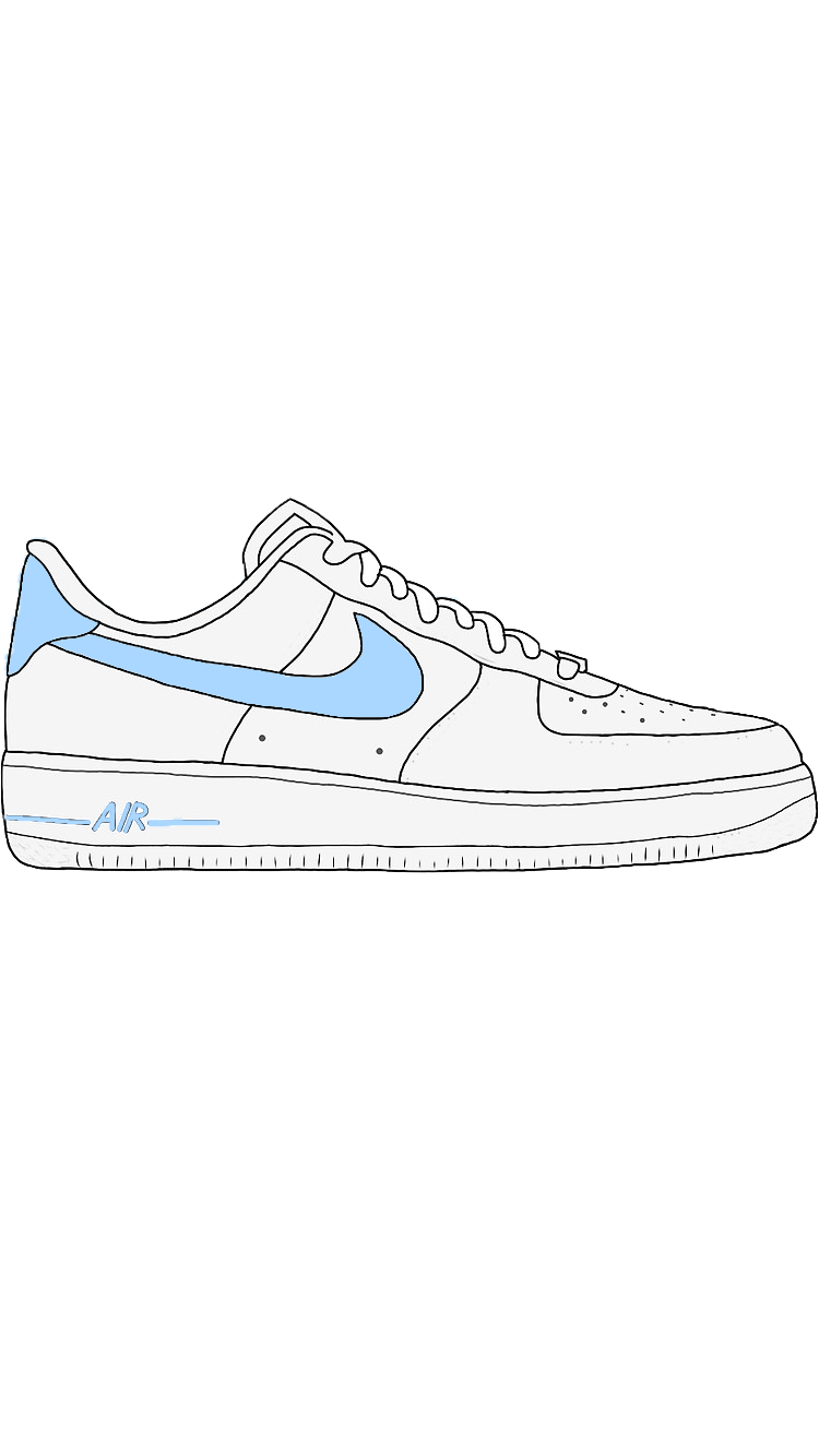 Blue Air Force one/Air Force 1 sticker on Redbubble Air