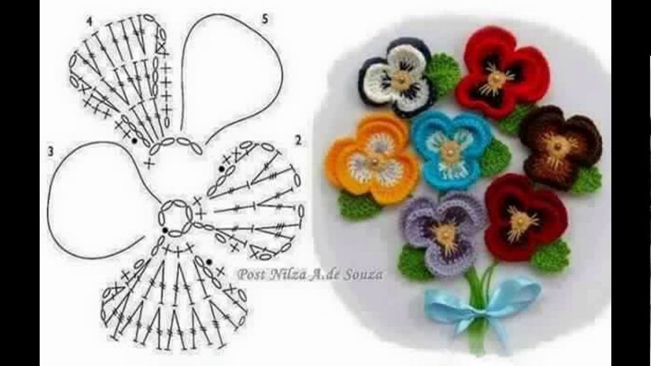 Flores tejidas a crochet con patrones | Proyectos que intentar ...