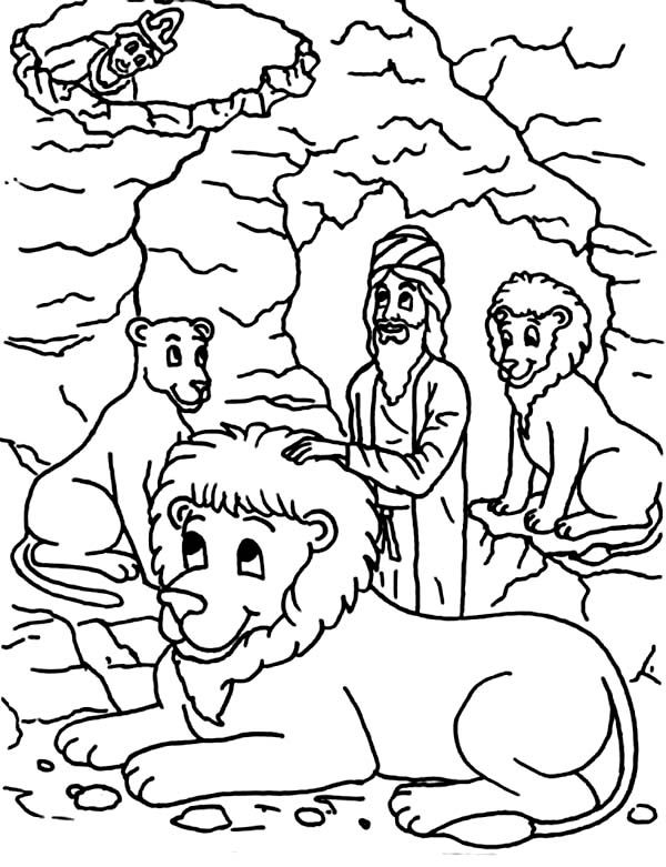 King Darius Put Daniel Into Lions Den In Daniel And The Lions Den Coloring Page Lion Coloring Pages Daniel And The Lions Coloring Pages