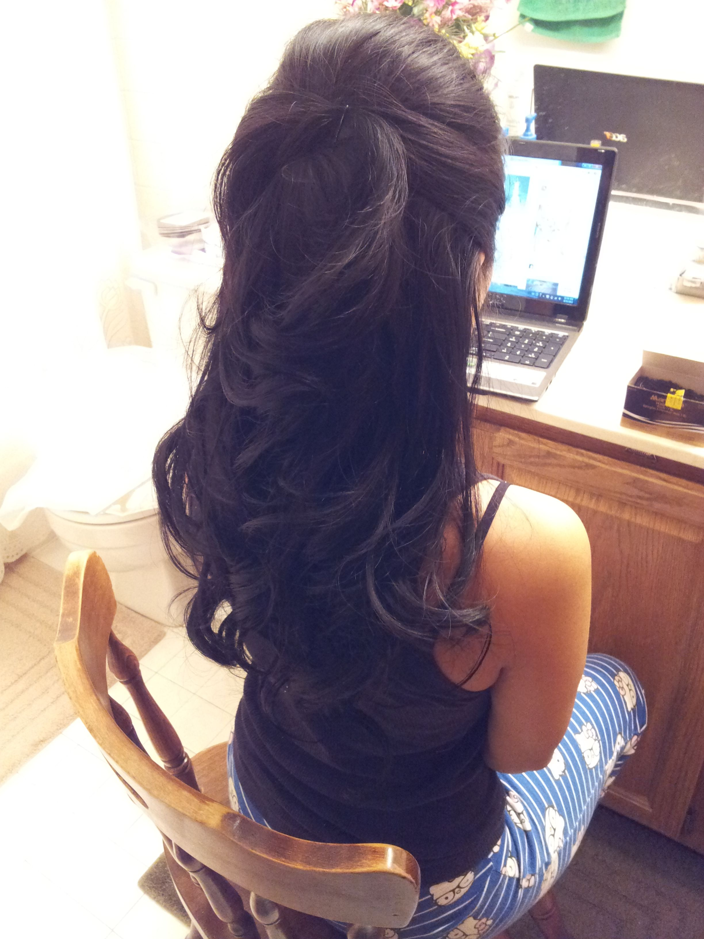 Courtesy of my maid of honor wedding day hair trial uc the