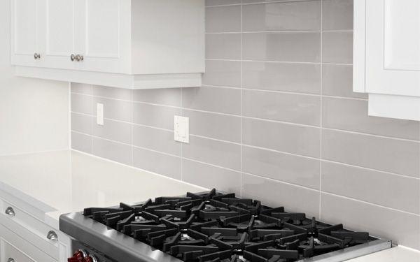 Kitchen Backsplash Gray Subway Tile Stacked Google