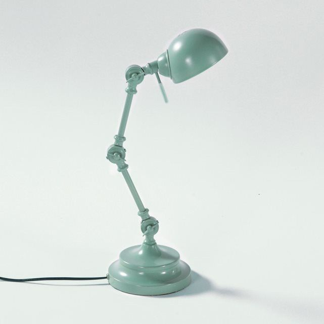 Lampe de bureau, métal, style industriel, Kikan La Redoute Interieurs : prix, avis & notation, livraison.  Un petit air rétro pour la lampe de bureau à poser, Kikan. Descriptif de la lampe de bureau, métal, style industriel, Kikan :Bras articulé par 3 rotules réglables. Douille E14 pour ampoule fluocompacte 7W maxi, non fournie. Cette lampe de bureau en métal, style industriel est compatible avec des ampoules des classes &...