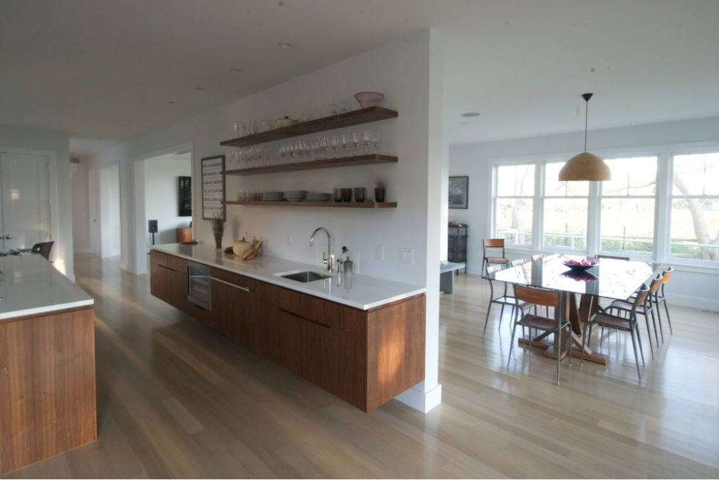 Kitchens · White Oak Floors. Walnut Cabinets.