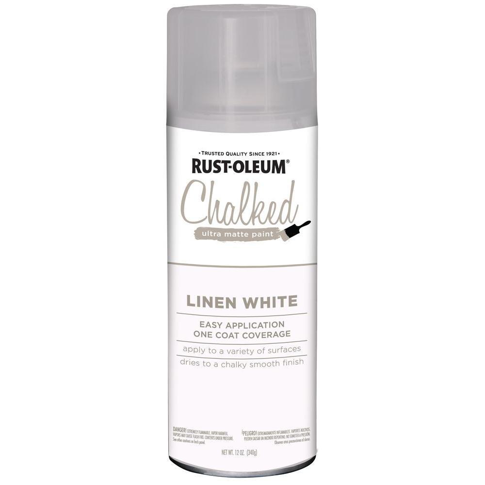 Rust-Oleum 12 oz  Chalked Linen White Ultra Matte Spray