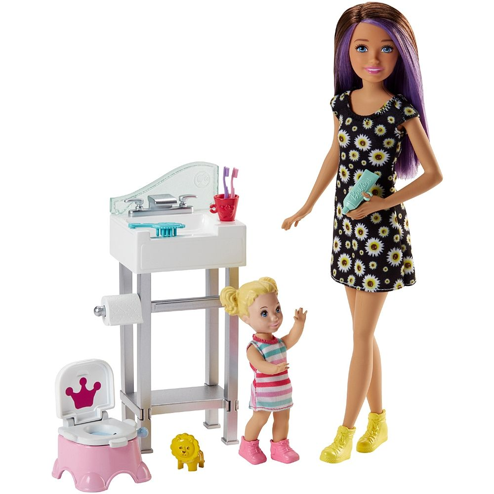 NEW Barbie Skipper Baby Babysitter Slumber Party Doll Pink Bed Tent