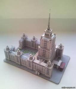 Architecture of paper, paper model download free. Papercraft, paper model free download. Moscow hotel