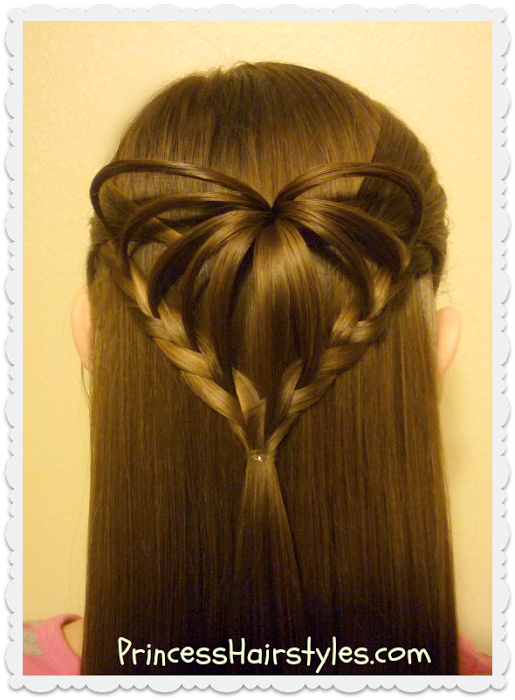 Princess Hairstyles Arrow Braid Heart Hairstyle For Valentine's Day  Princess