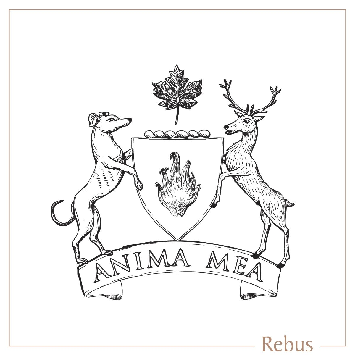 coat of arms shield dog deer crest signet rings put a ring on