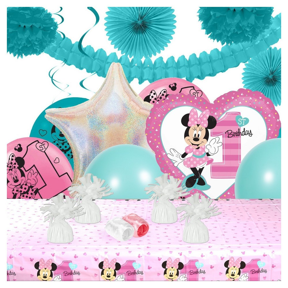 Pleasant Disney Minnie Mouse 1St Birthday Party Decoration Kit Pink Best Image Libraries Sapebelowcountryjoecom
