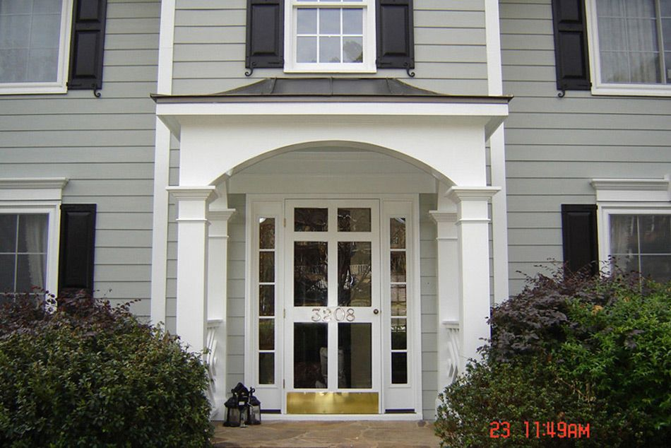 Porch Roofs Above Entrance Door Front Porch Photos