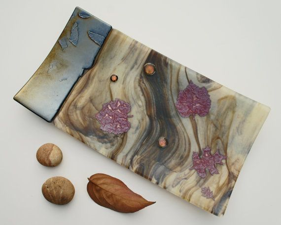 Earth+Tones+Copper+Aspen+Leaves+Gold+Brown+Cream+by+ModMixArt