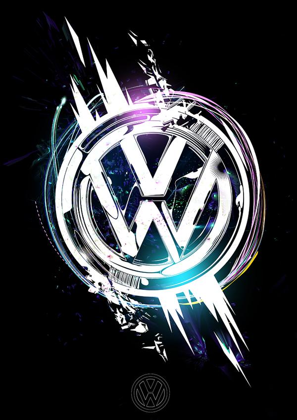 Sweet Take On The Vw Logo Fondos De Pantalla De Coches Calcomanias Para Coches Vw Logo