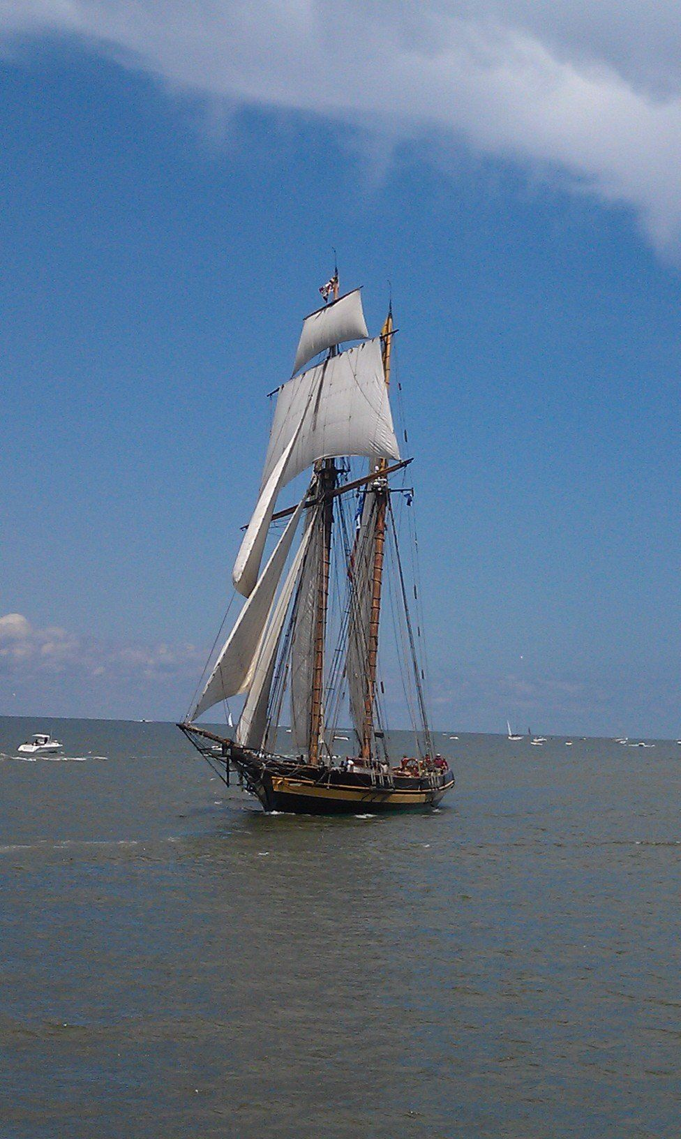 Incoming ships For Tall Ships festival