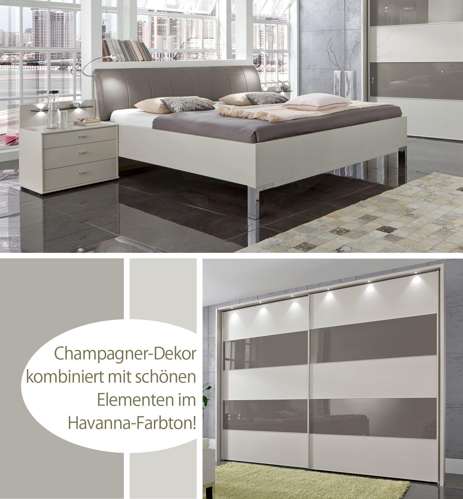 schönes schlafzimmer in gedeckten, modernen farben. | betten.de