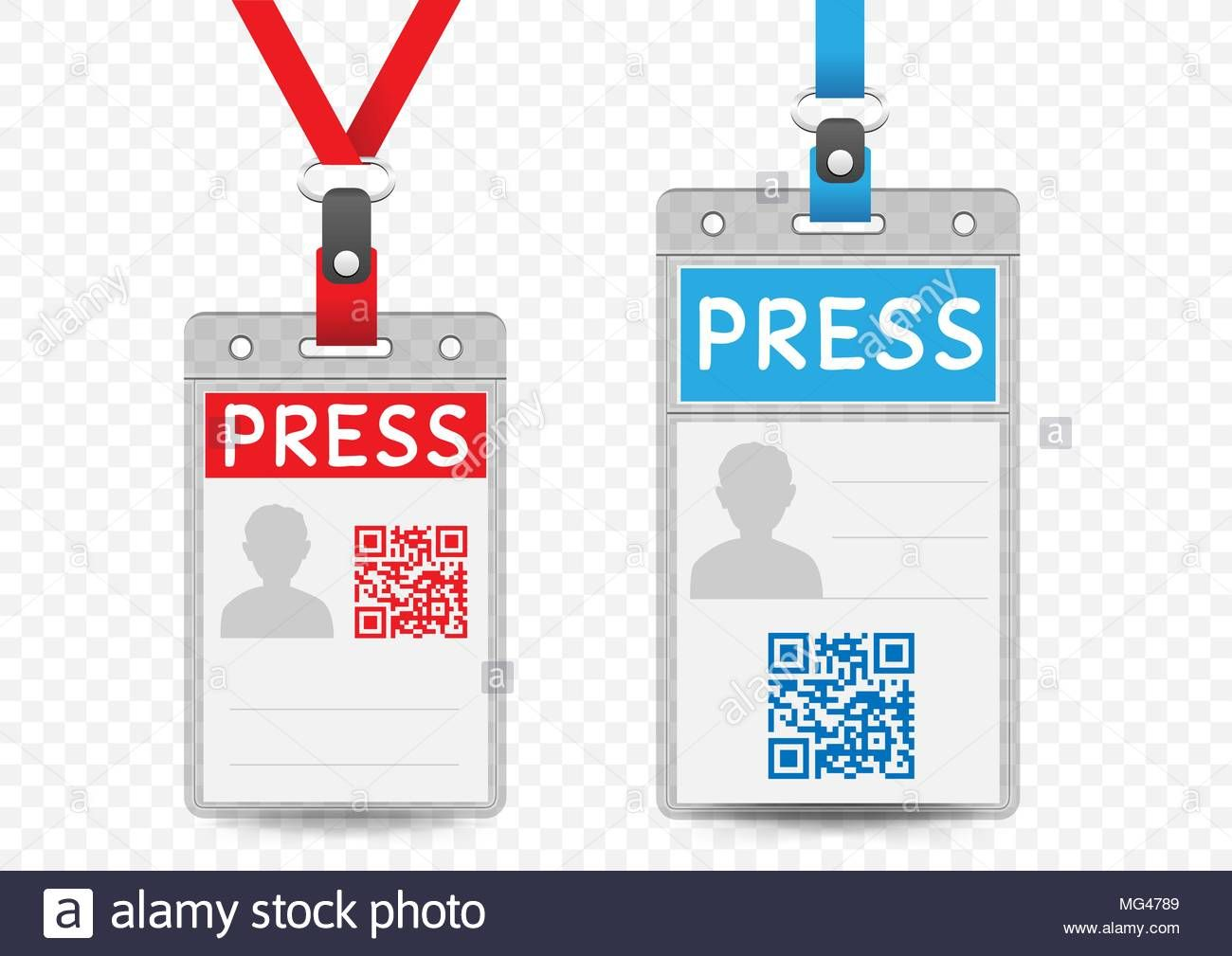 Press Journalist Vertical Badge Empty Template With Blue And Inside Media Id Card Templates Cumed Org Id Card Template Badge Template Card Templates