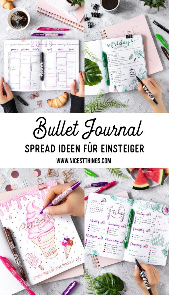 Bullet Journal Ideen: Planer individuell gestalten - Nicest Things