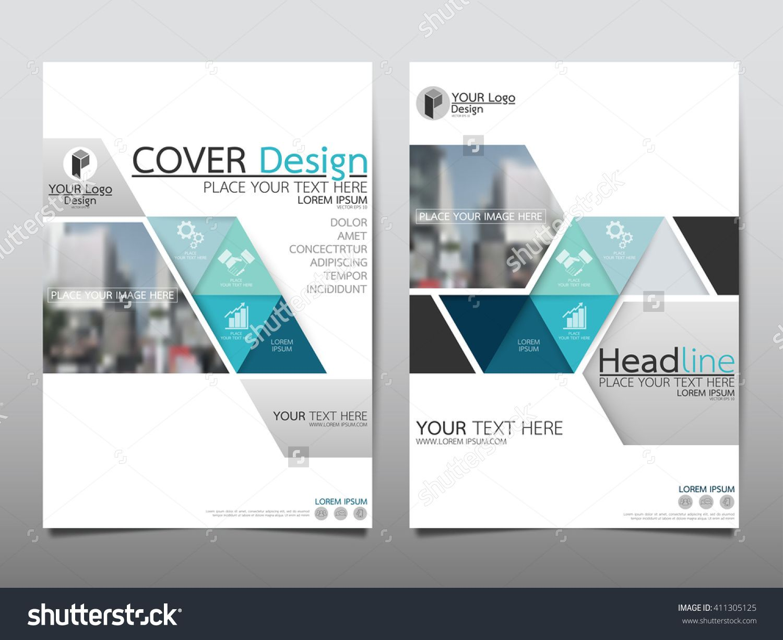 Blue Triangle Triangle Annual Report Brochure Flyer Design Template ...