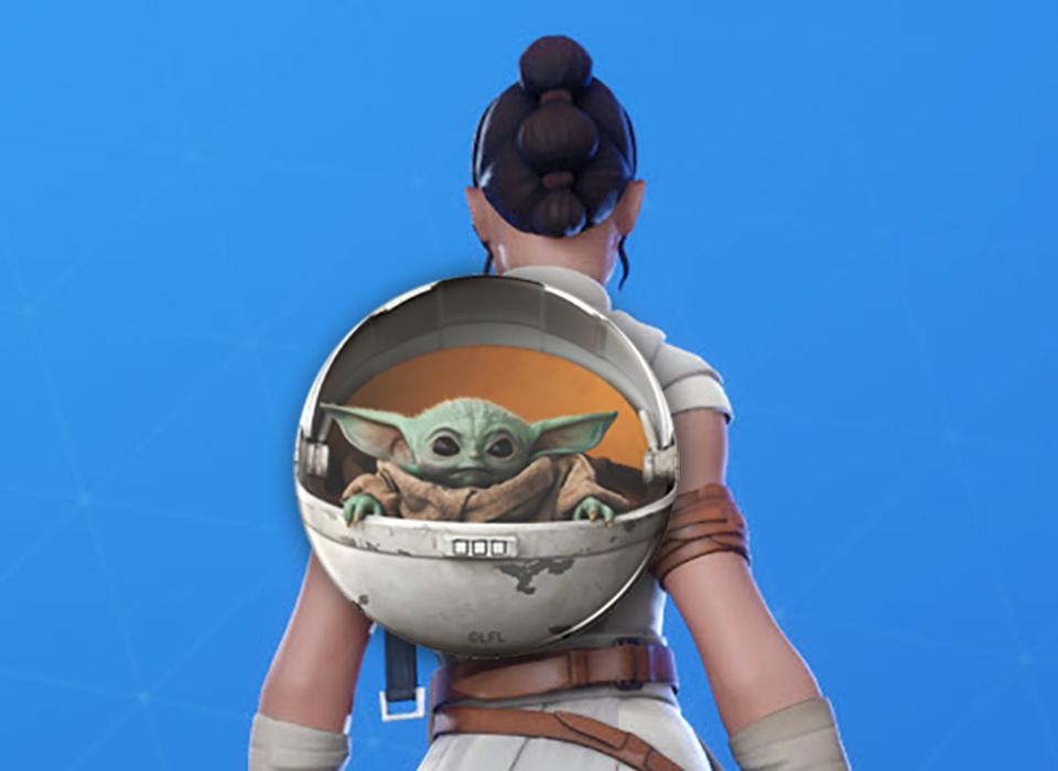 So Where Is Fortnite S Baby Yoda Back Bling To Drown Epic And Disney In Money Yoda Fortnite Star Wars Characters