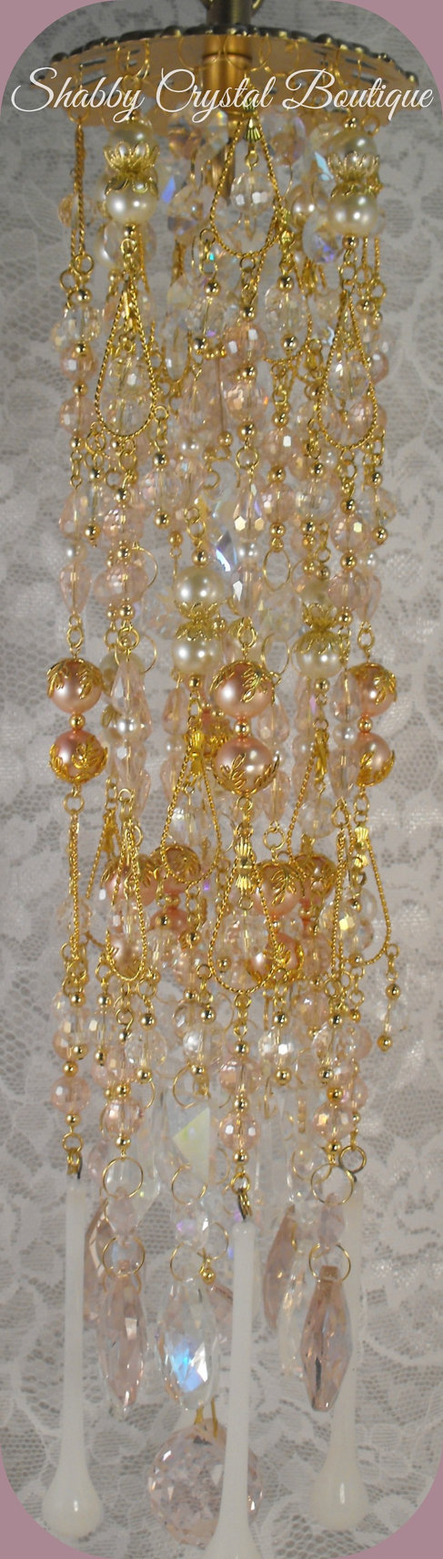 So Sweet Shabby Crystal Windchime by SCrystalBoutique on Etsy