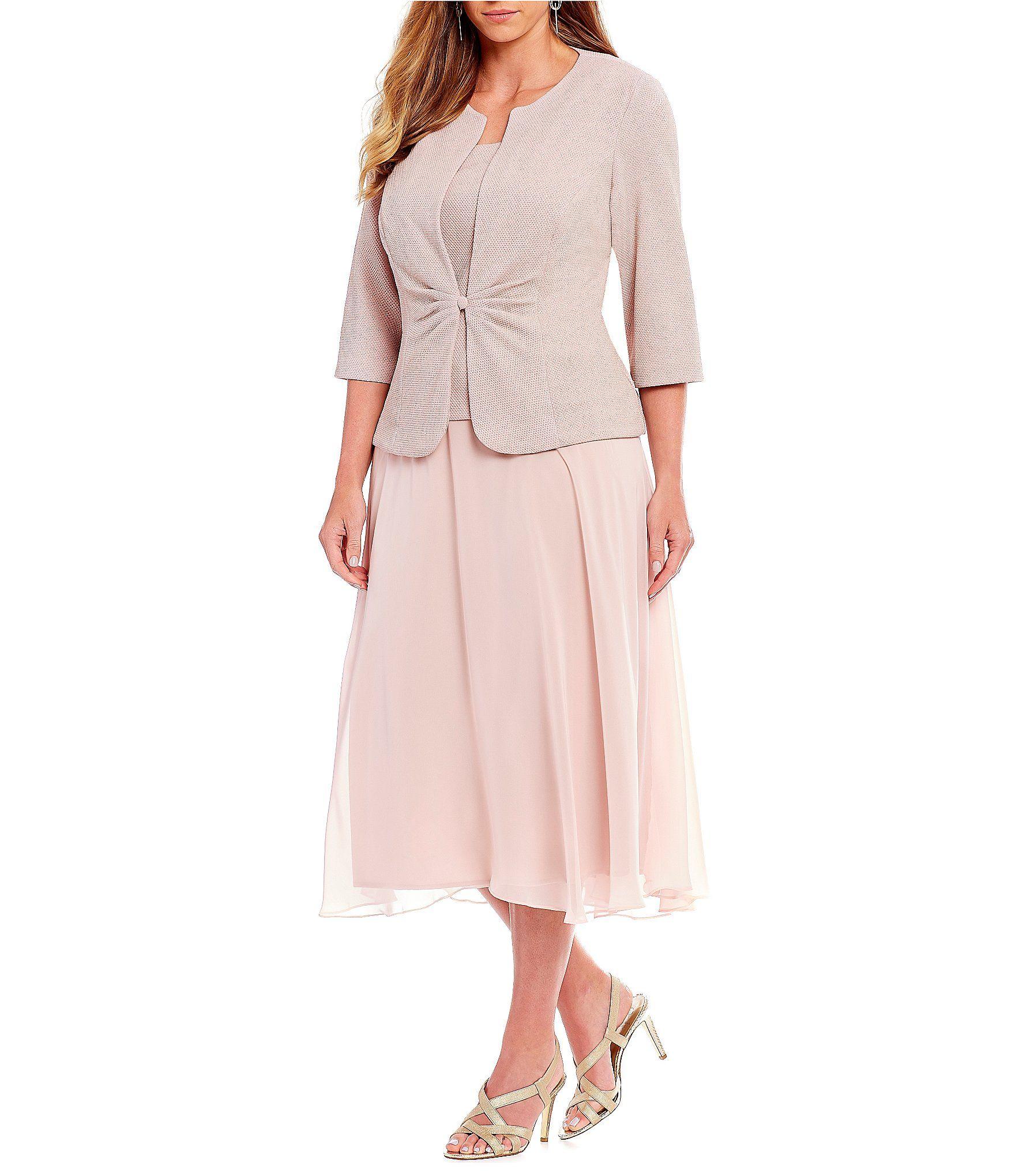 ae19c7f6306 Alex Evenings Plus Size Midi Length Mock Jacket Dress  Dillards ...