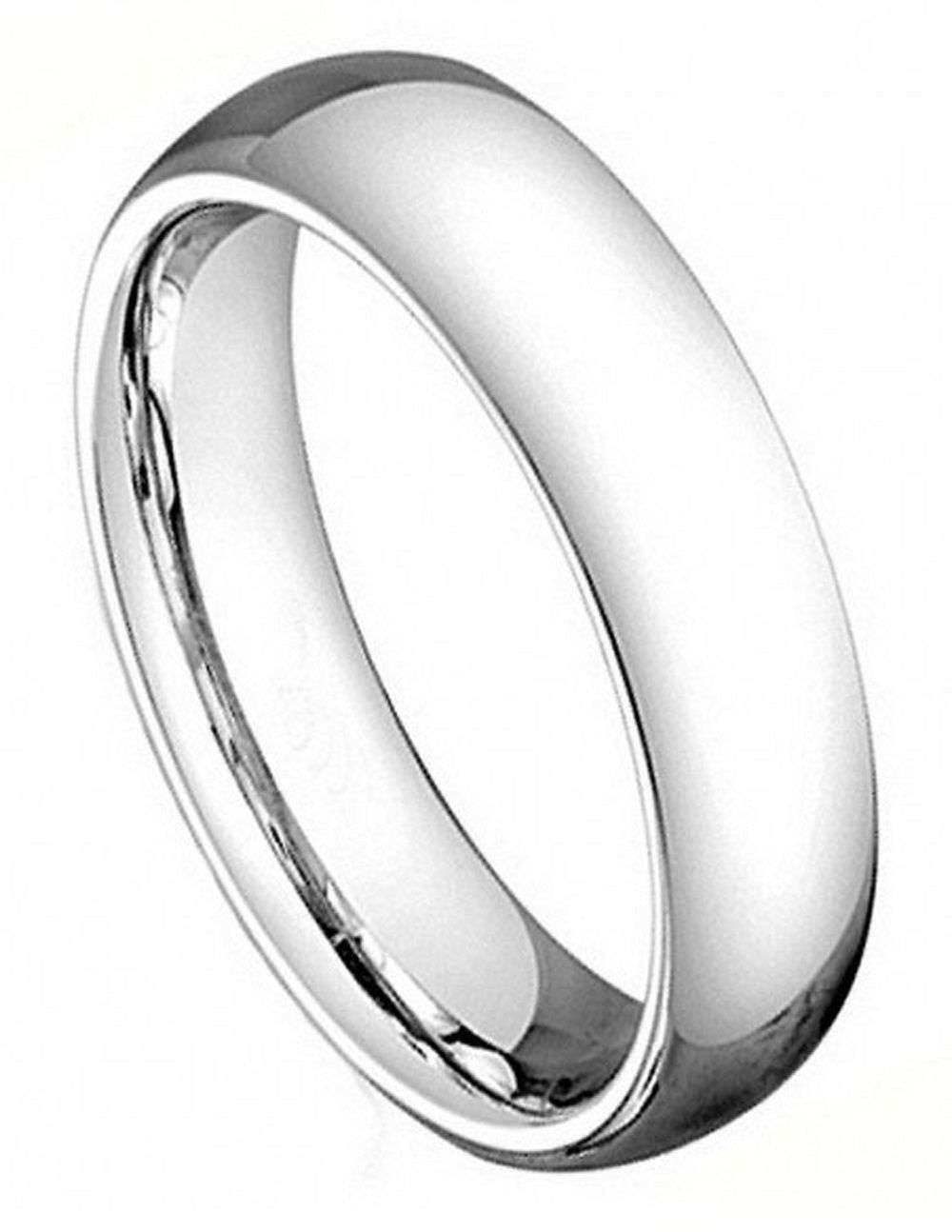 5mm Cobalt Ring Men Women Wedding Band High Polish Clic Domed