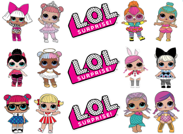 Lol Surprise Doll Cupcakes 4 Edible Cupcake Topper Images Lol Dolls Doll Birthday Cake Lol Doll Cake