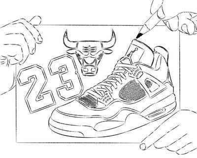 drawings of jordan shoe | Jacqui\'s Binder Cover | Pinterest