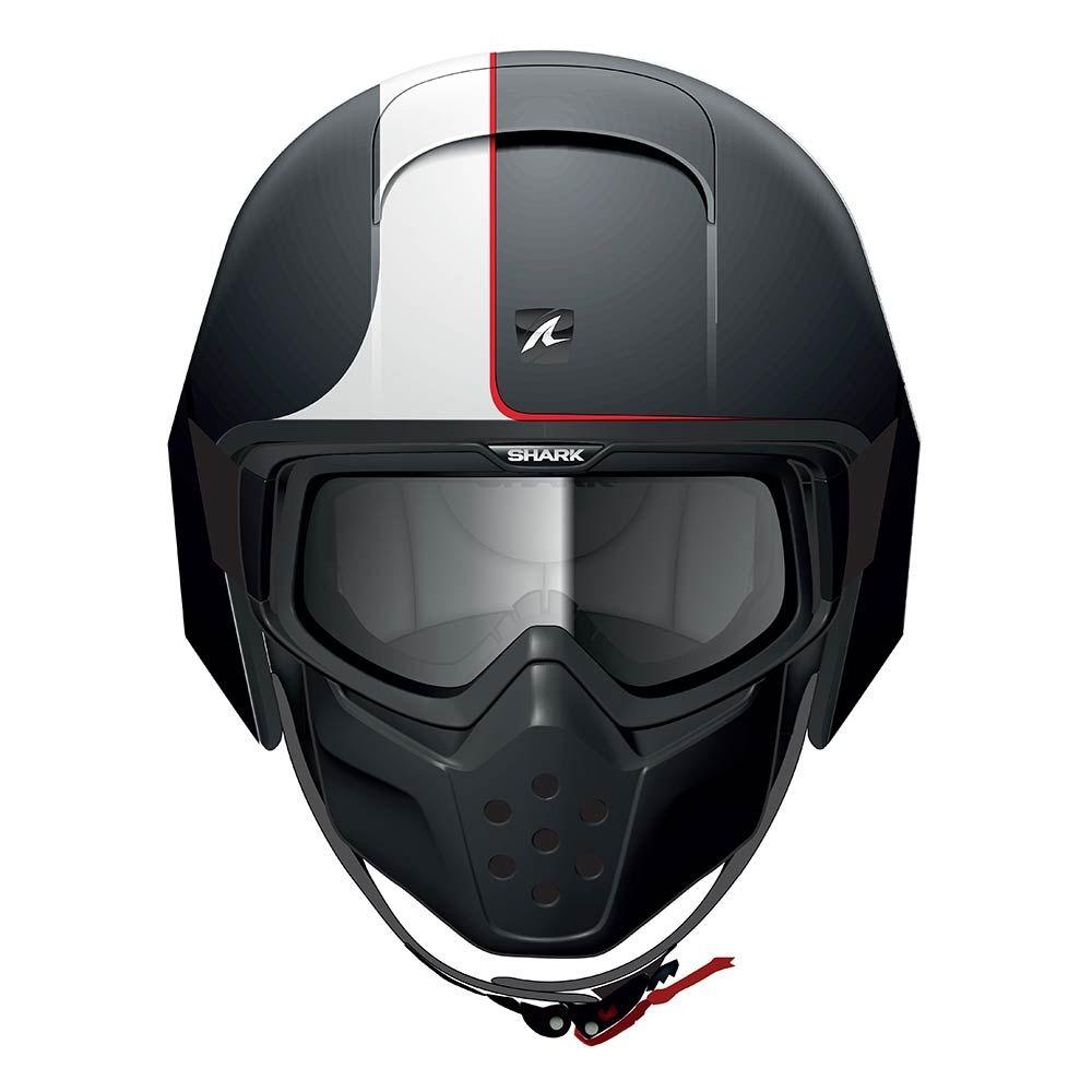 4dd553d922751 Shark Raw Streetfighter Helmet - Stripe   Matt Black - THE CAFE RACER