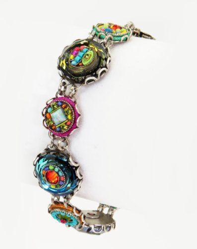 Firefly Jewelry Bracelet With Multicolored Circle Design Swarovski