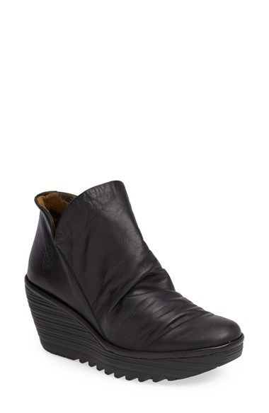 f85cb46c57d Free shipping and returns on Fly London  Yip  Wedge Bootie (Women) at  Nordstrom.com. A heavily lugged wedge sole adds bold