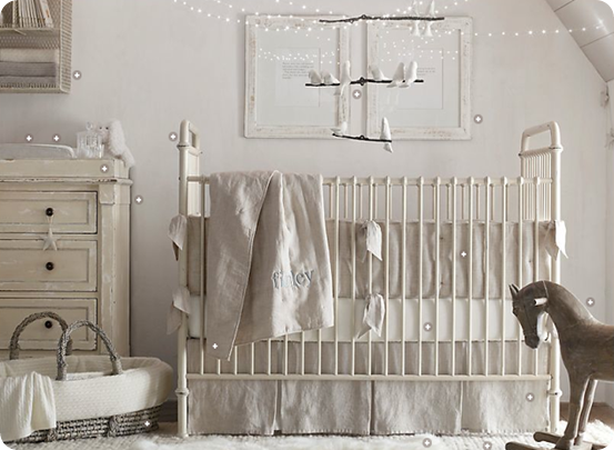 new white spindle crib turned into antique crib by mom love this idea